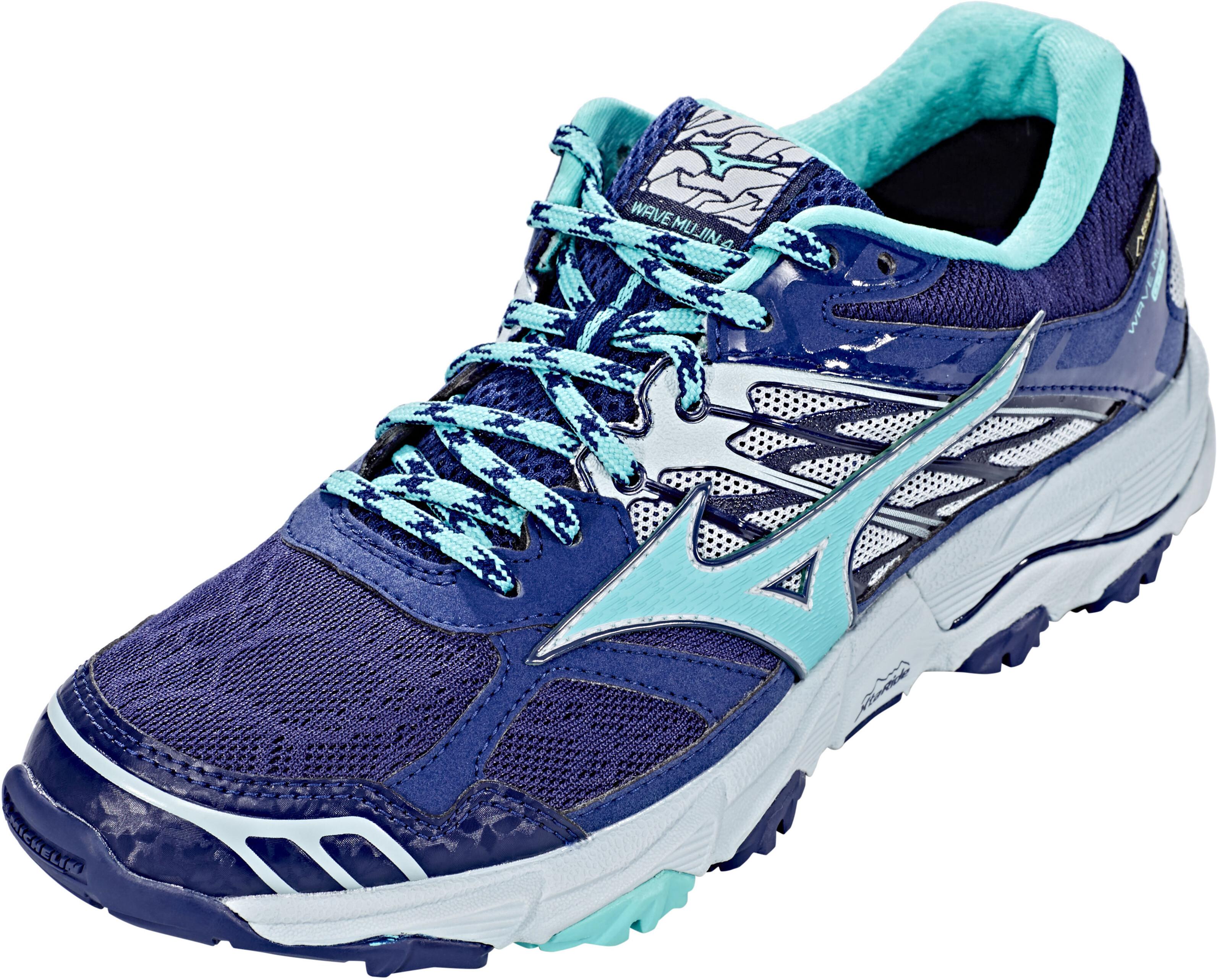 timeless design ae794 f7574 Mizuno Wave Mujin 4 G-TX - Chaussures running Femme - bleu turquoise